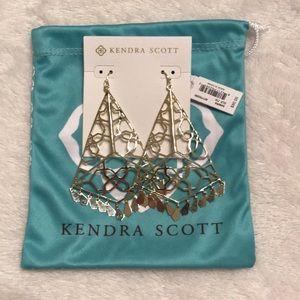 "Kendra Scott - ""Samira"" gold dangle earrings (NWT)"